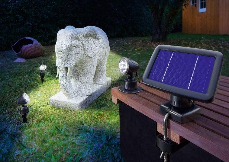 Pannello Solare Per Faretti : Faretto da esterno con pannello fotovoltaico ecoworld