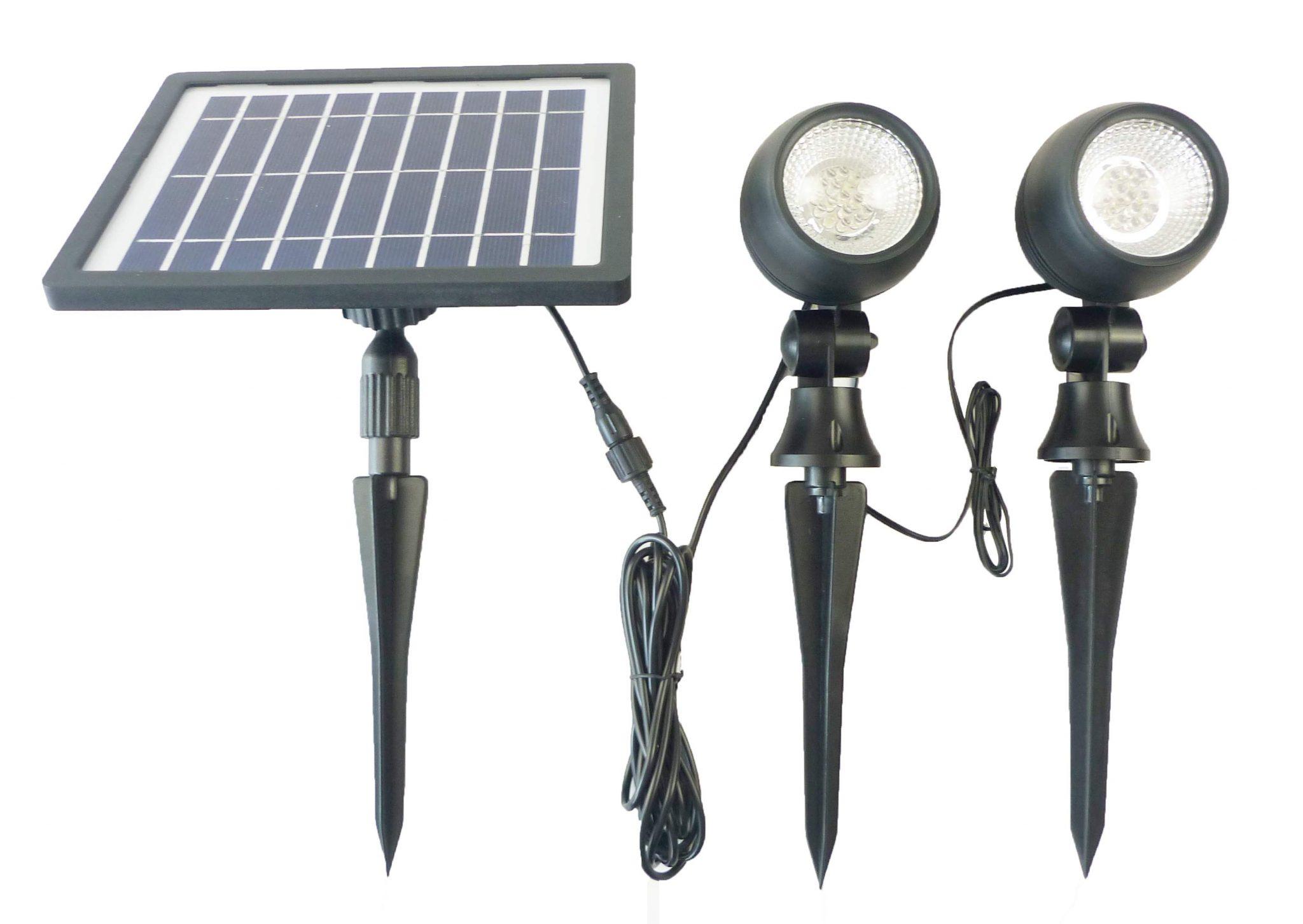 Pannello Solare Per Luce Scale : Faretto led esterno con pannello solare per giardino faro