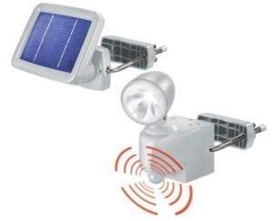 Faretto solare da esterno funzionamento con sensore di movimento
