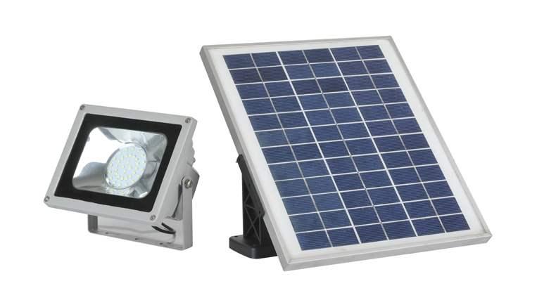 Faretto ad energia solare a led per esterni con pannello for Faretti per esterno
