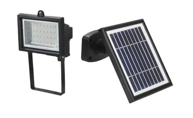 Faretto Led da Esterno Con Pannello Solare Fotovoltaico  Ecoworld-Shop.it