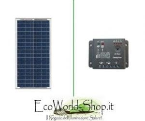 Kit Pannello Fotovoltaico 30 Watt e regolatore di Carica 5A