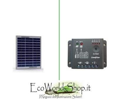 Kit Pannello Fotovoltaico 5W e regolatore di carica 5A