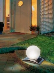 Decorazione esterna lampada energia solare