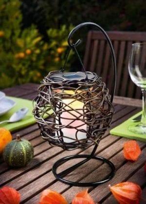 Lampada Solare decorativa effetto candela per cene all' aperto