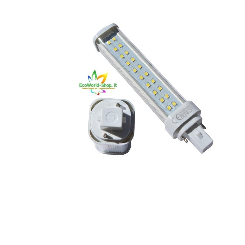 Lampadina led da 9 w attacco g24d 230v 850 lumen lampada for Lampadina lunga led