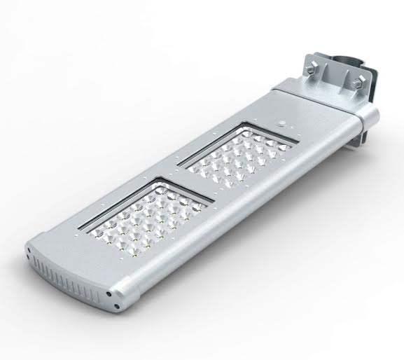 Lampione ad energia solare con 48 led, luce bianca fredda