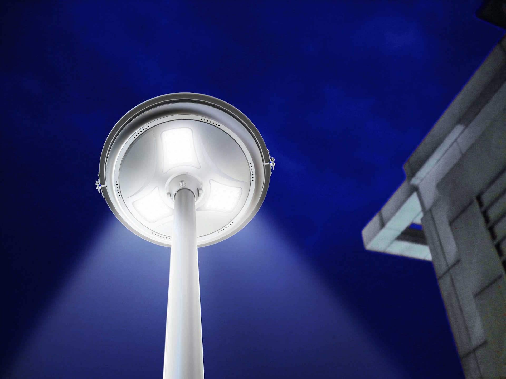 Lampione per esterno solare a led lumen ecoworld shop