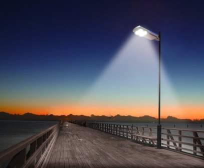 Plafoniere Per Lampioni Stradali : Lampione stradale ad energia solare a led all in one ecoworld shop.it