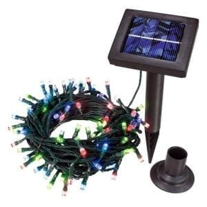 Luci di Natale solari 100 Led multicolor