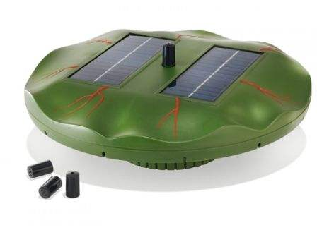 Fontana pompa solare con pannello solare per laghetti for Pompa filtro laghetto solare
