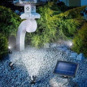 Illumina l' esterno con Faretto a Led Energia Solare