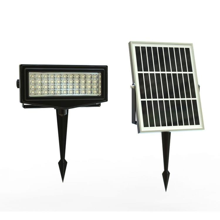 Faretto RGB con pannello fotovoltaico per esterno, 7 colori differenti