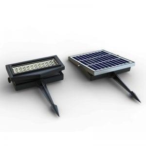 Faretto Led Rgb con pannello fotovoltaico