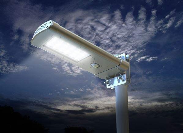 Lampione led dettaglio illuminazione
