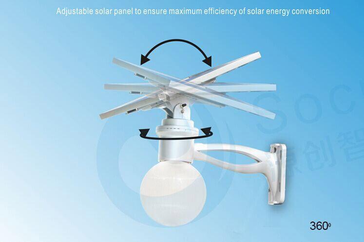 Lampione ad energia solare moon1500 ecoworld shop.it