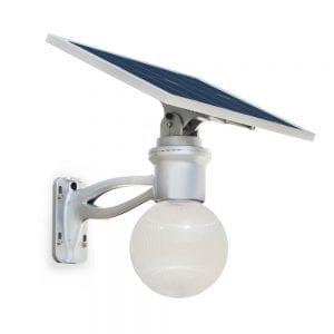 Lampione Led con Pannello Fotovoltaico Orientabile a 360°
