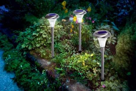 Lampioncini Segnapasi solari, 3 pezzi, con pannelli fotovoltaico incorporato