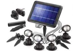 Faretto da Esterno Solare con Pannello Fotovoltaico