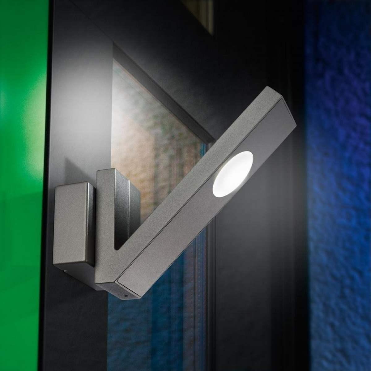 Lampada da parete a led per esterno, colore bianco o antracite ...