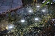 Faretti Solari a Led Immergibili con pannello fotovoltaico per laghetti e stagni