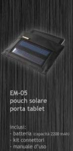 Ricarica smartphone, tablet e altri dispositivi con il porta tablet ad energia solare