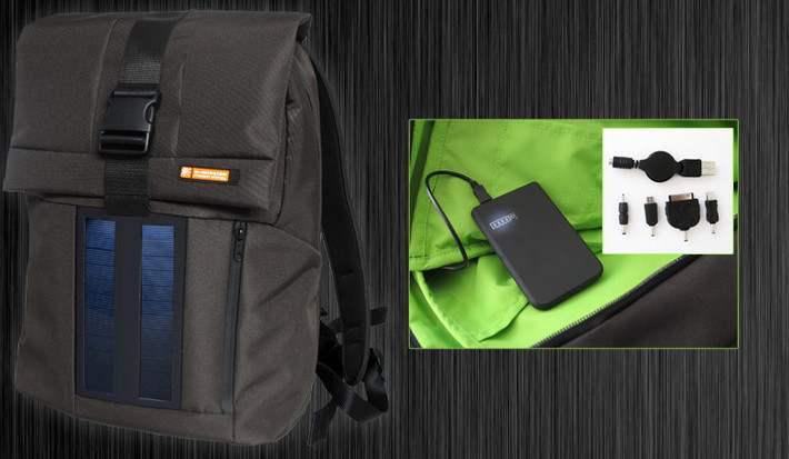 Zaino Trekking Con Pannello Solare : Zaino solare con batteria inclusa em acquista su